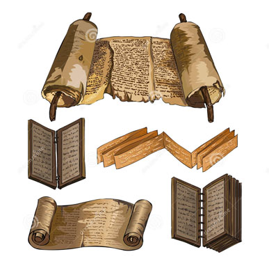 ancient-books-papyrus-wooden-book
